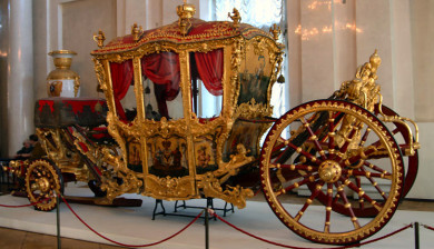 Restoration of Golden State Carriage of Czar Catherine II (the Great) with funding contributed by Federal Express.