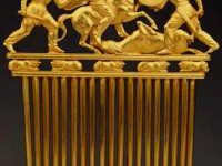 Scythian Gold Comb, State Hermitage Museum, St. Petersburg, Russia.