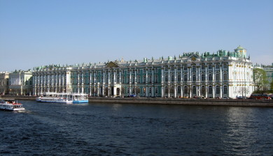 The Winter Palace and State Hermitage Museum, Saint Petersburg, Russia.