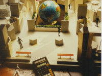 "Architectural Model of ""Geographica"" Interactive Science Exhibition."
