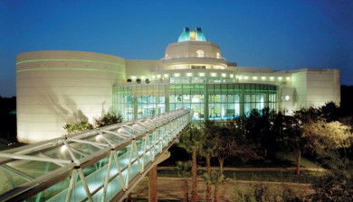 Photograph of the completed New Orlando Science Center.